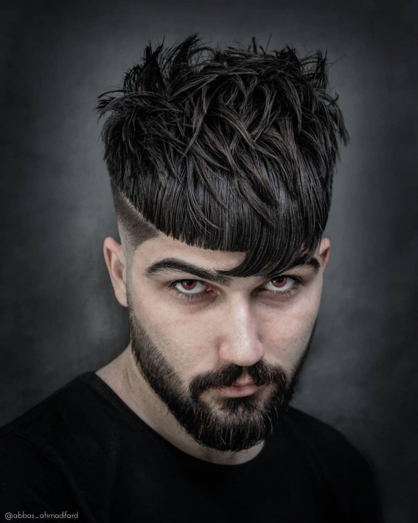 modern fringe haircuts for men