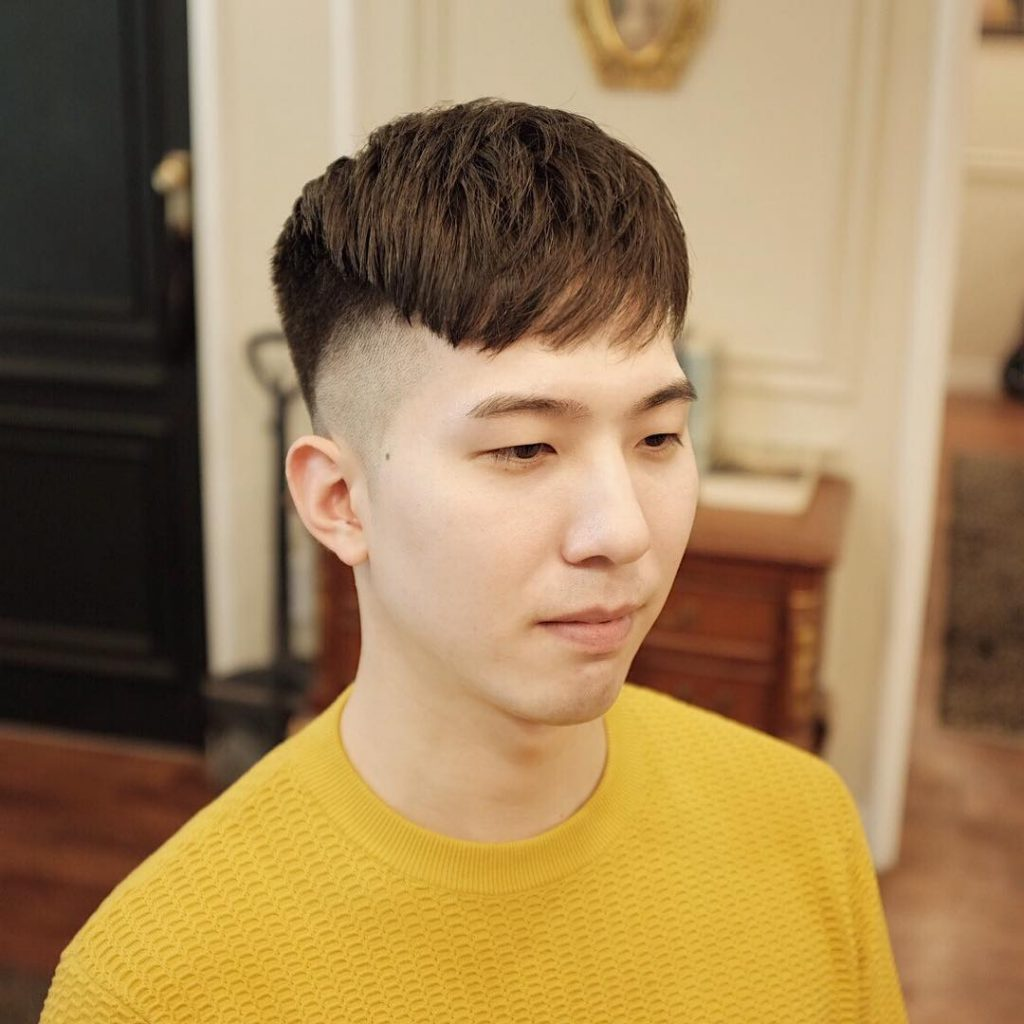 cool fringe haircuts for Asian men