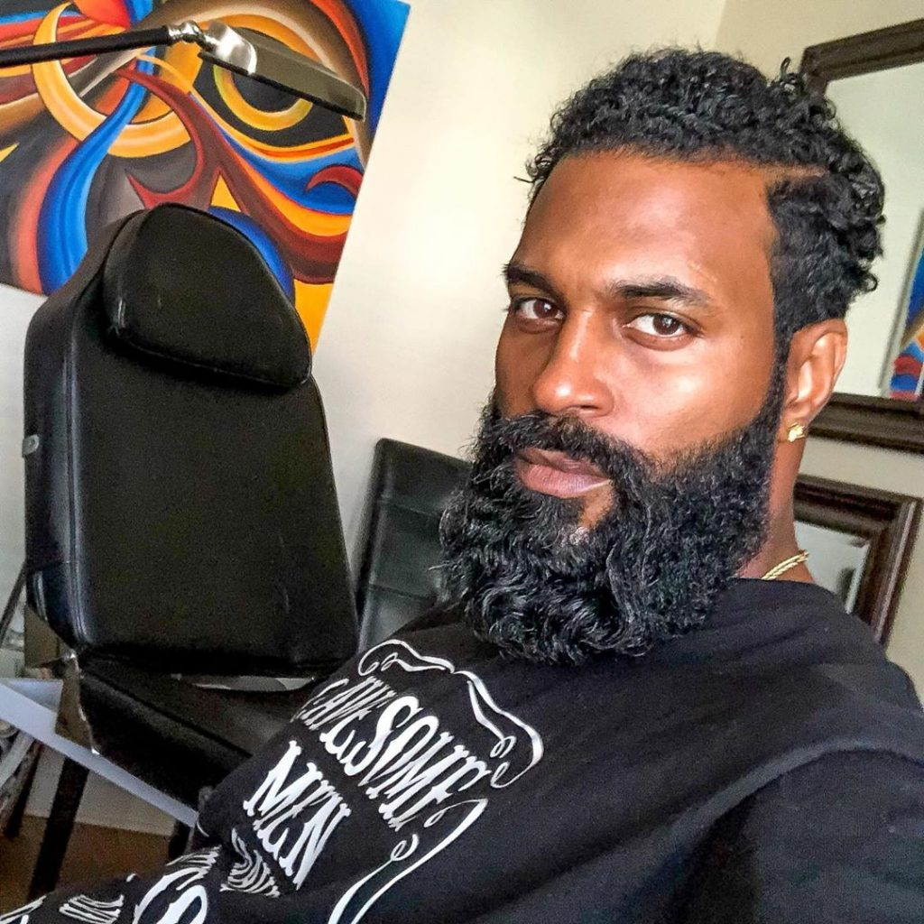 wavy beard for black men