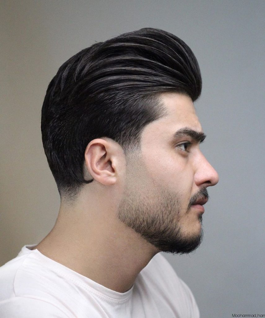 modern pompadour hairstyle