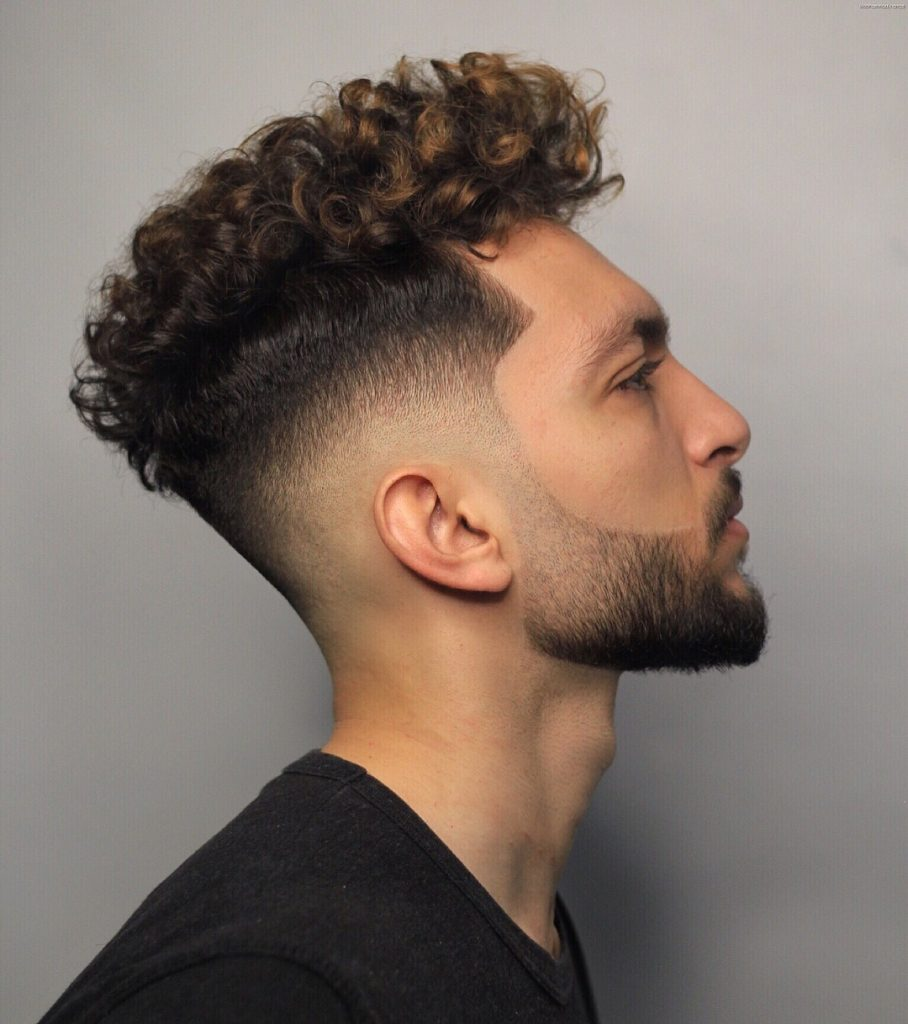 Fade haircuts for curly hair men