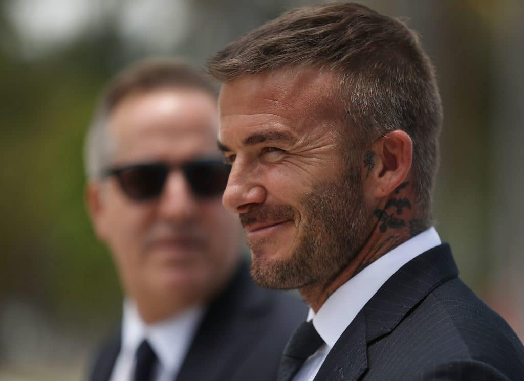 celebrity crew cut David Beckham