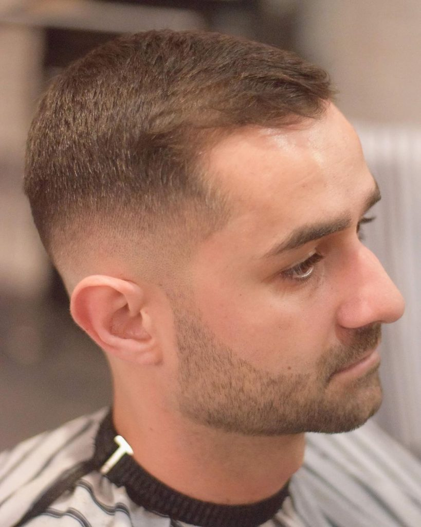 crew cut for thinning hair or balding hair