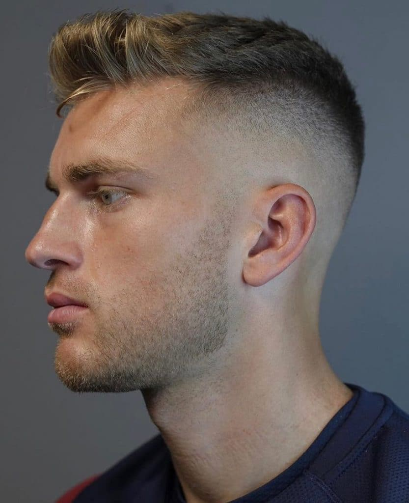 Classic men's short haircut