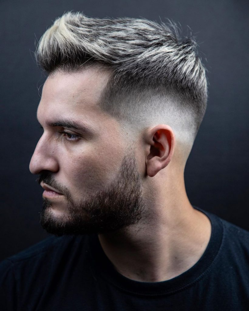 cool faux hawk fade
