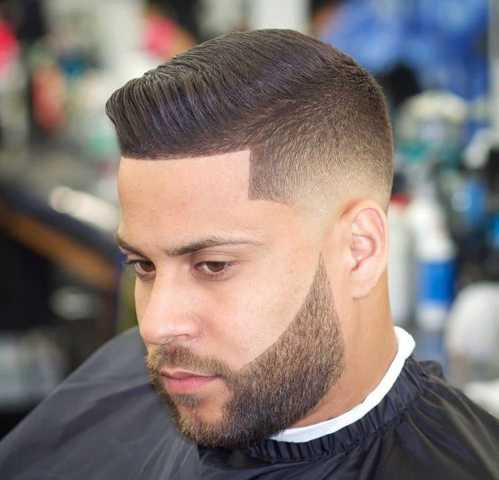 short comb over fade