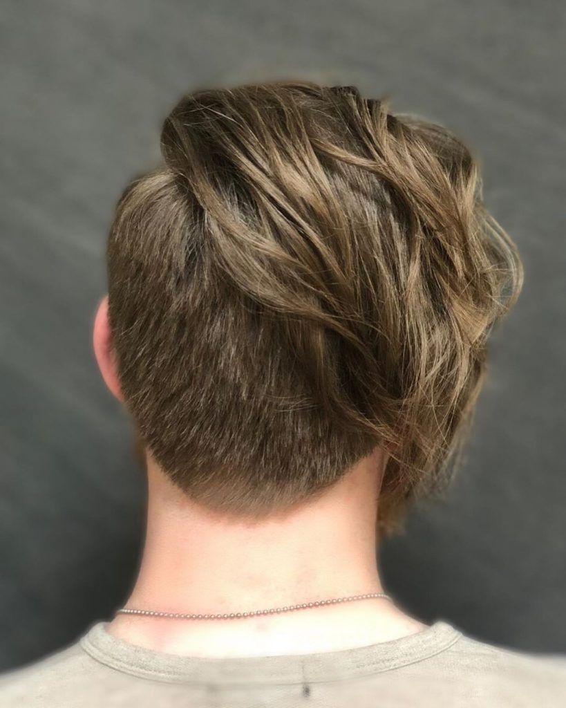 undercut for men from the back