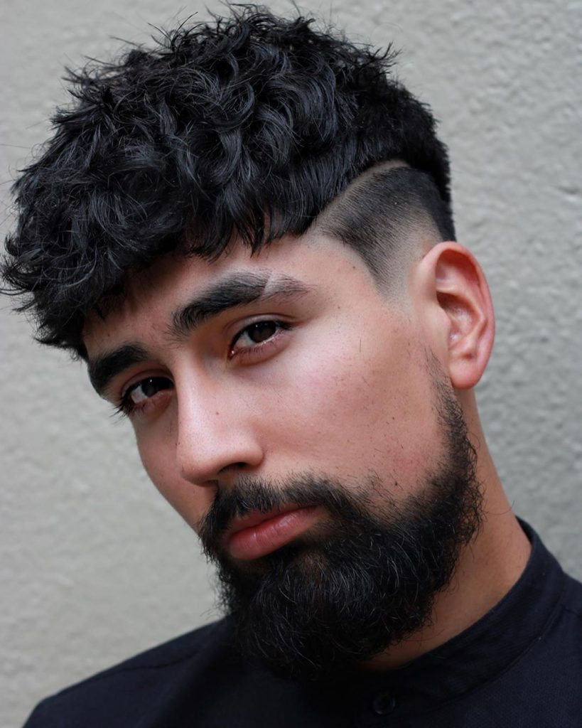 low curly hair fade