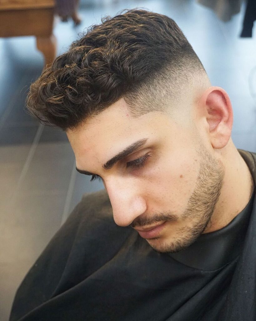 High fade haircut for curly hair