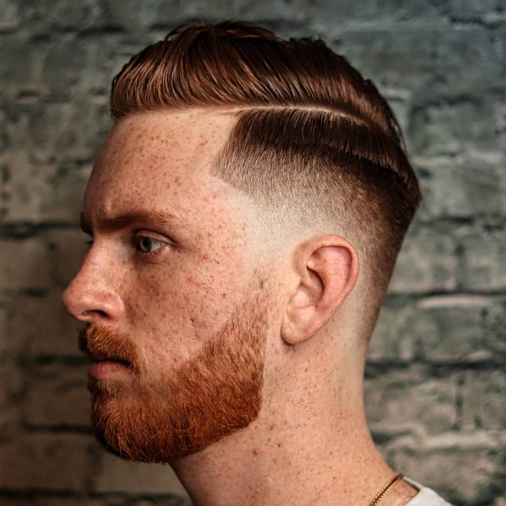 Drop fade with side part