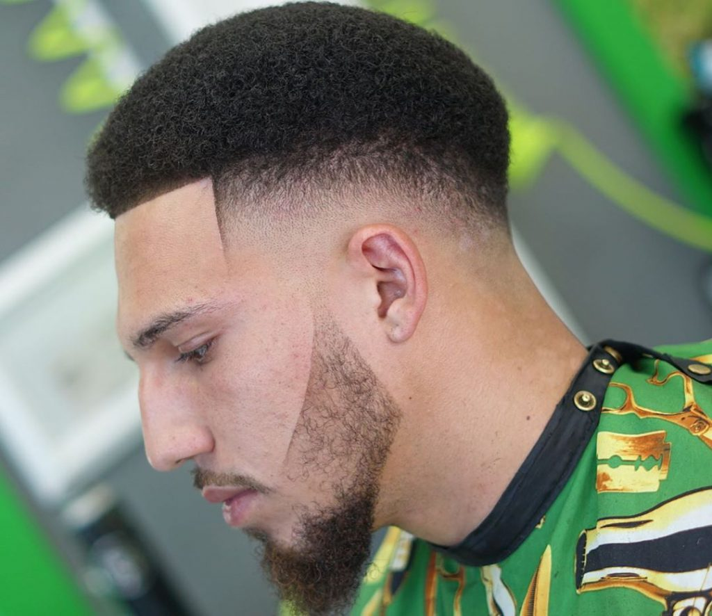 Curly hair black men short haircut fade