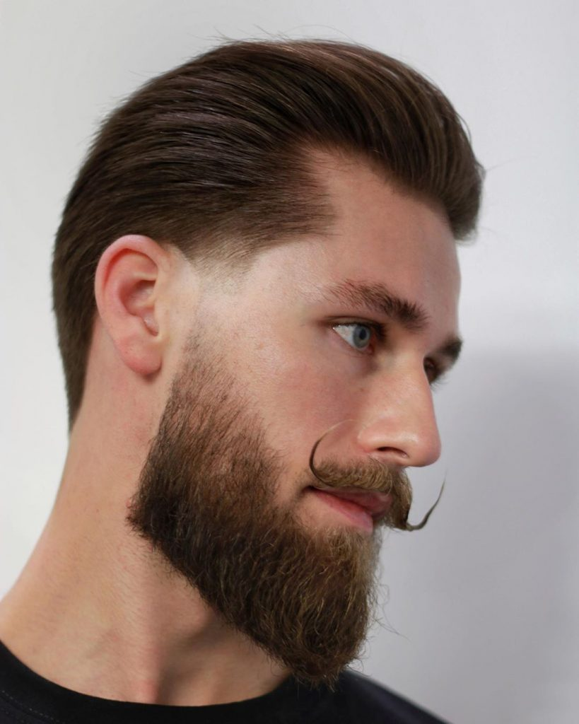 Taper fade haircut with beard