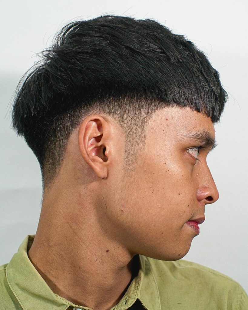 Crop haircut thick hair