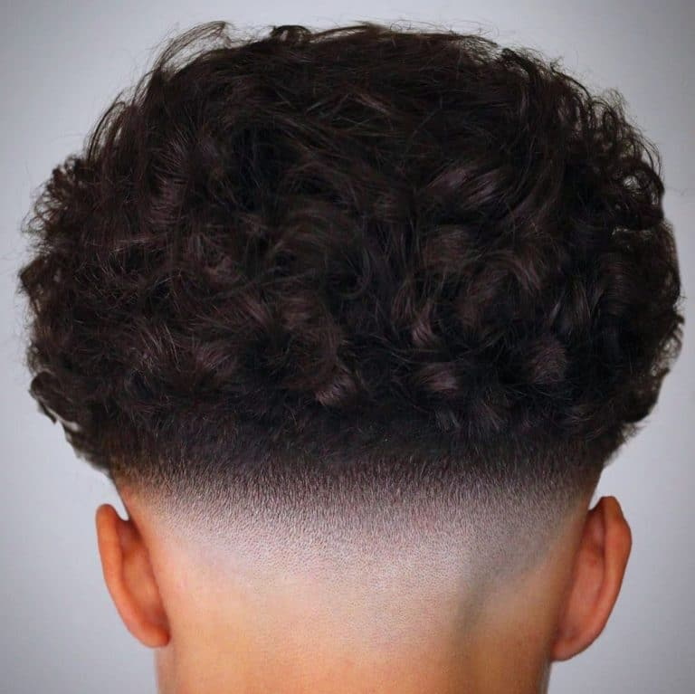 curly hair fade haircuts