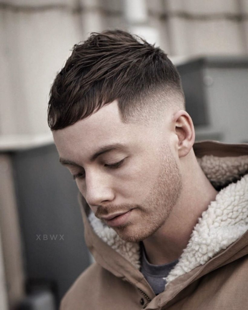 Short textured haircut for men