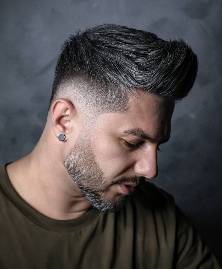 Cool hairstyles for grey hair men