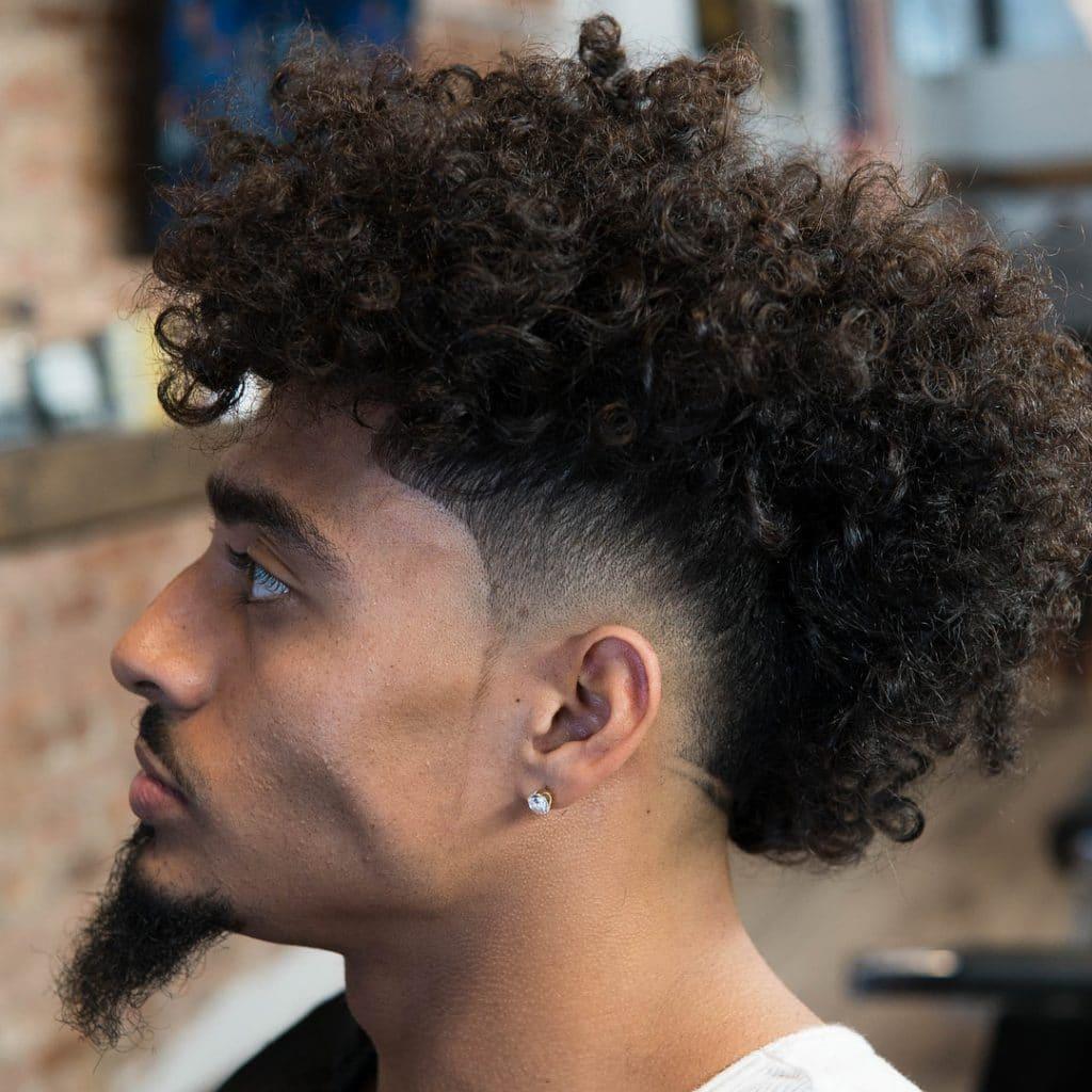 afro mohawk fade haircut
