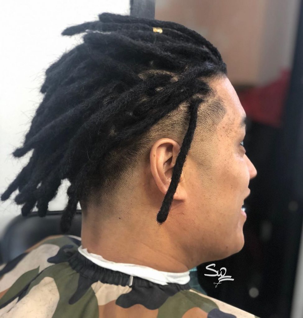 Dreads with fade