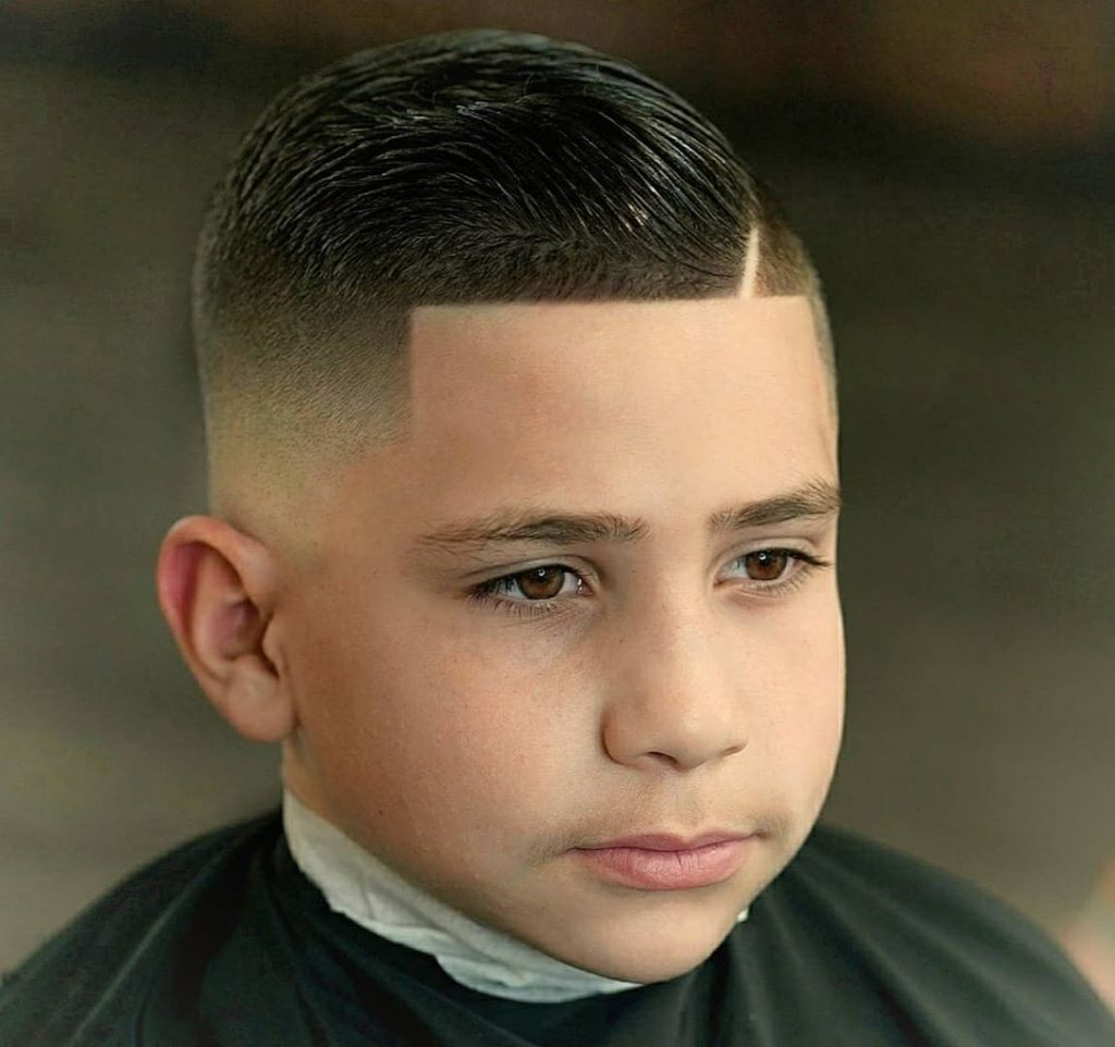 short haircut for boys with high fade