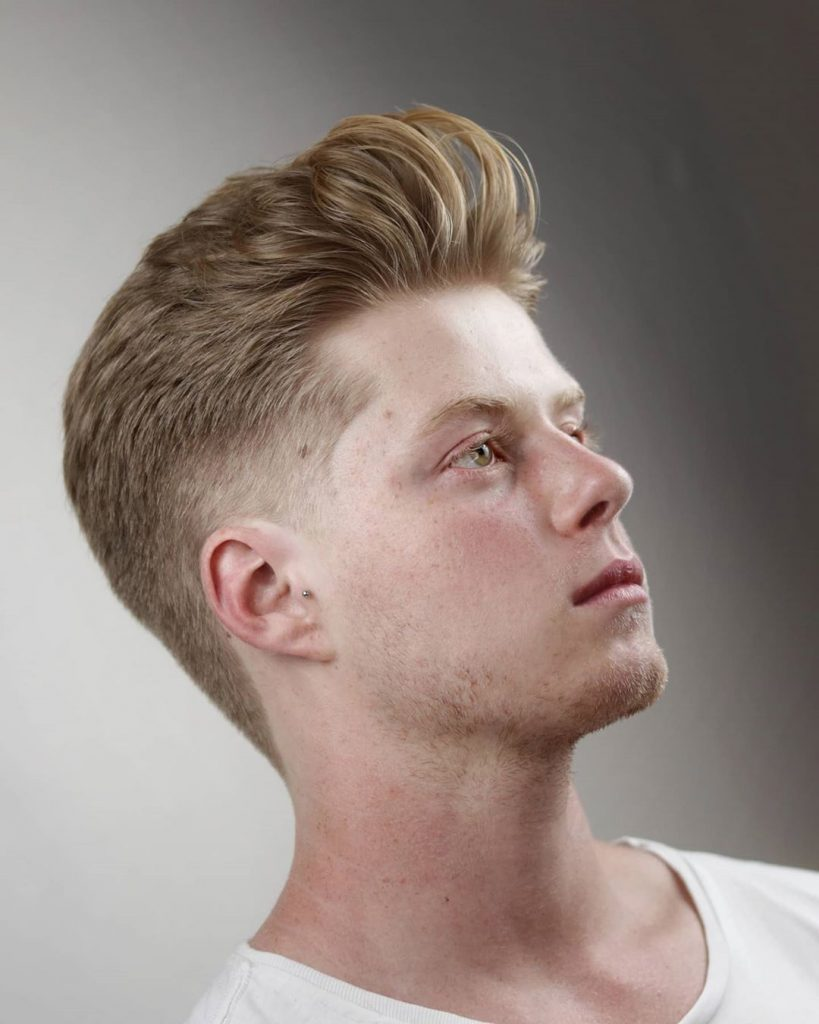 haircut for round face men