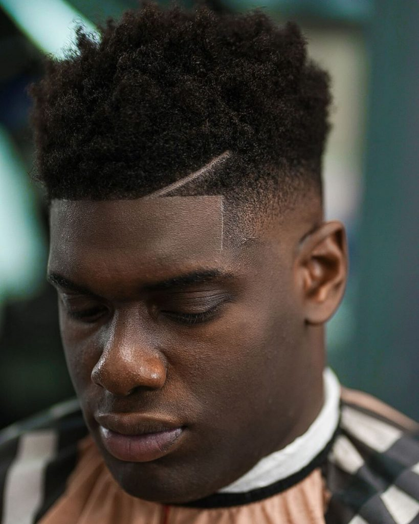 High Top Fade + Side Part