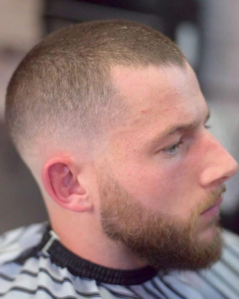 Low fade military haircut
