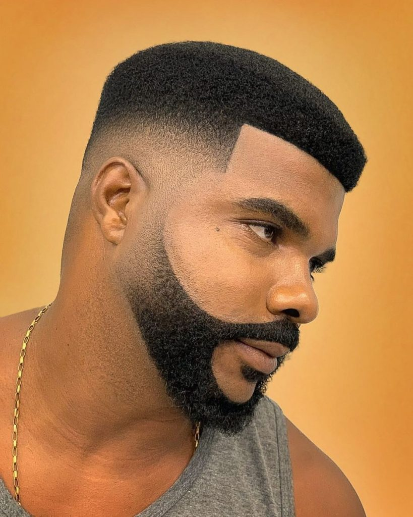 high top fade with beard