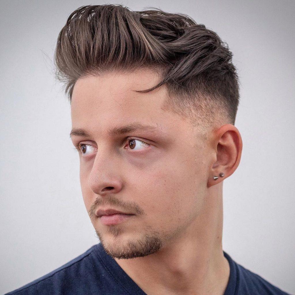 messy quiff haircut