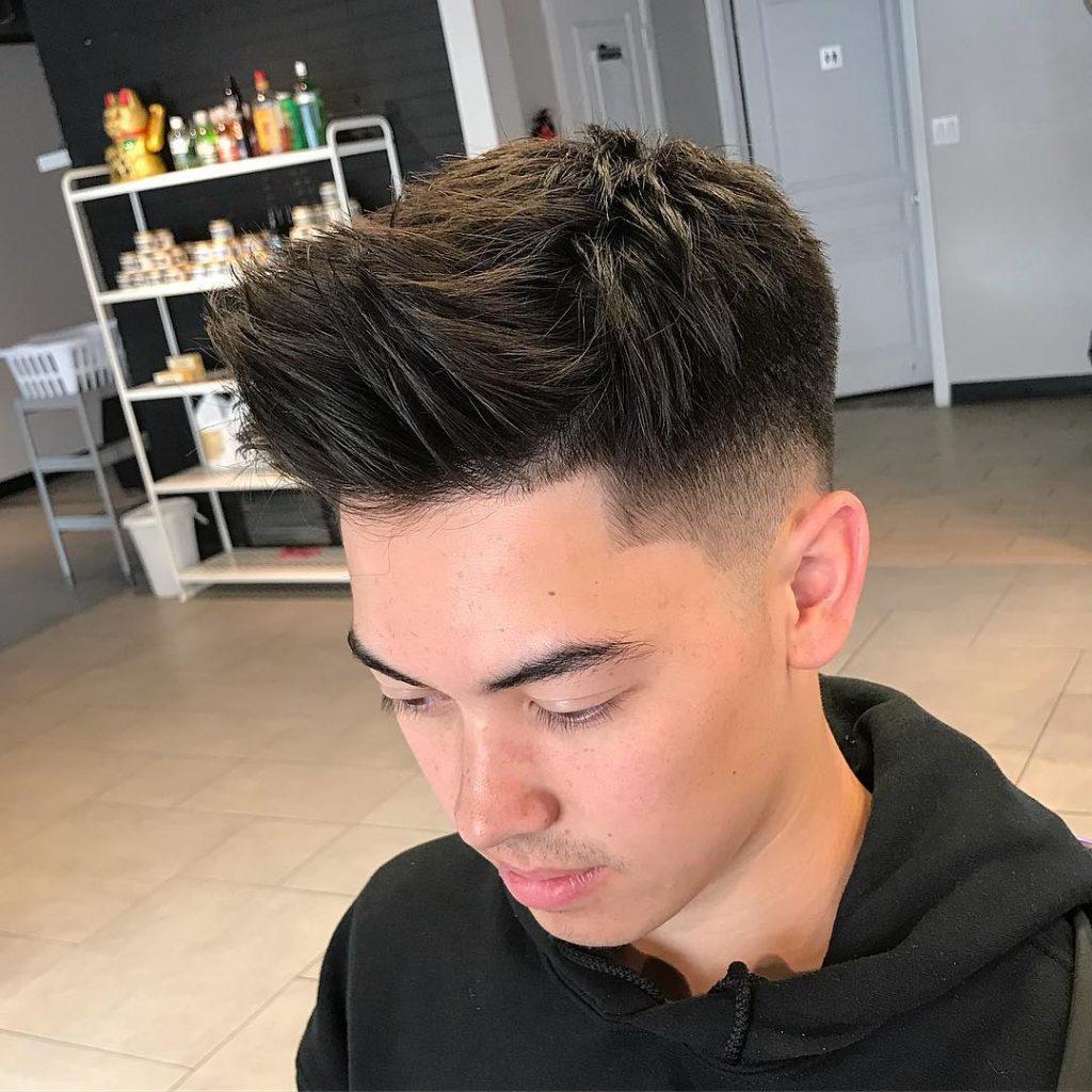 asian quiff haircut