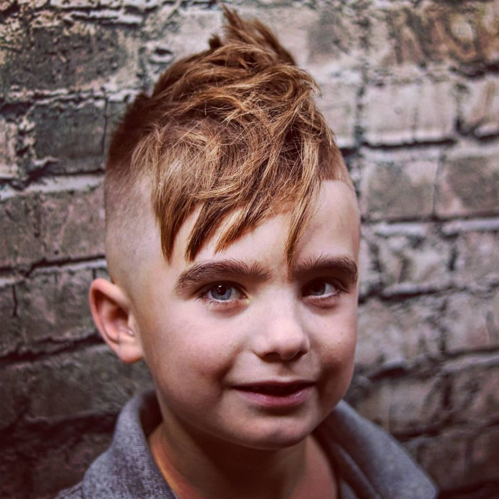 Stylish haircut for boys textured undercut