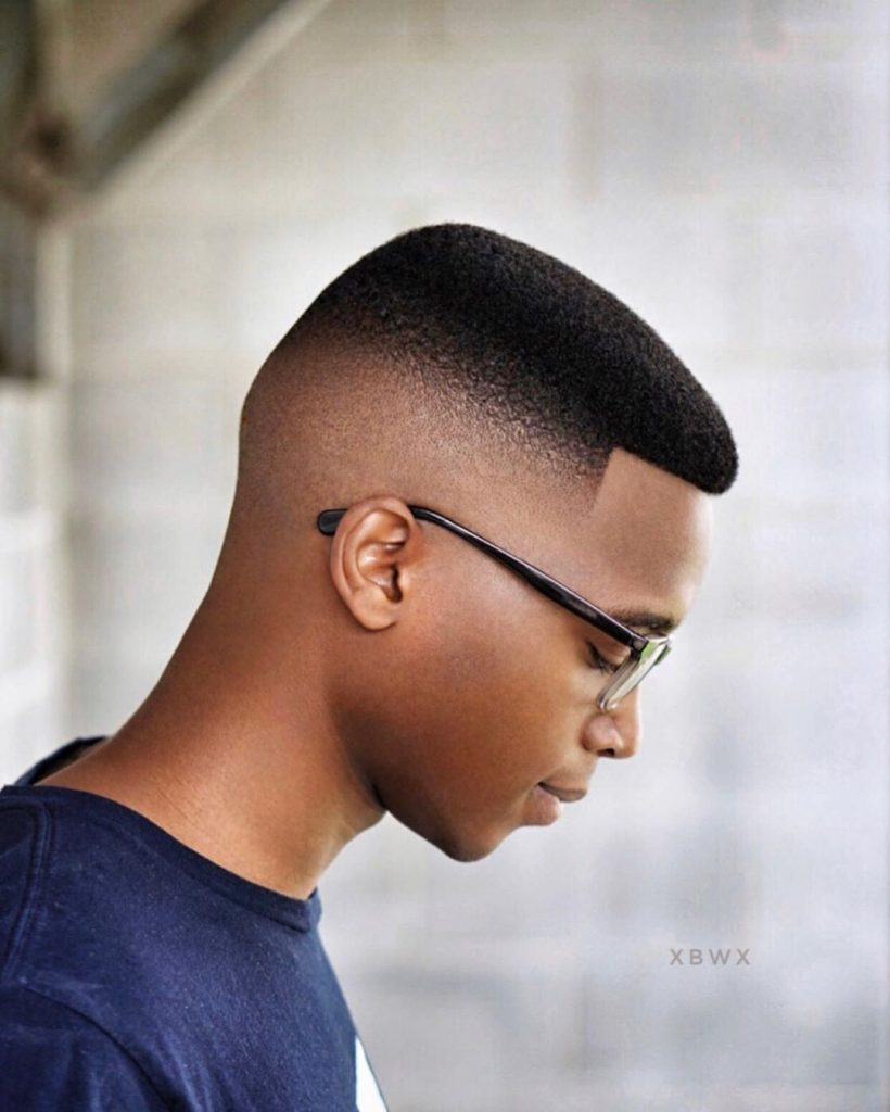 short high top fade