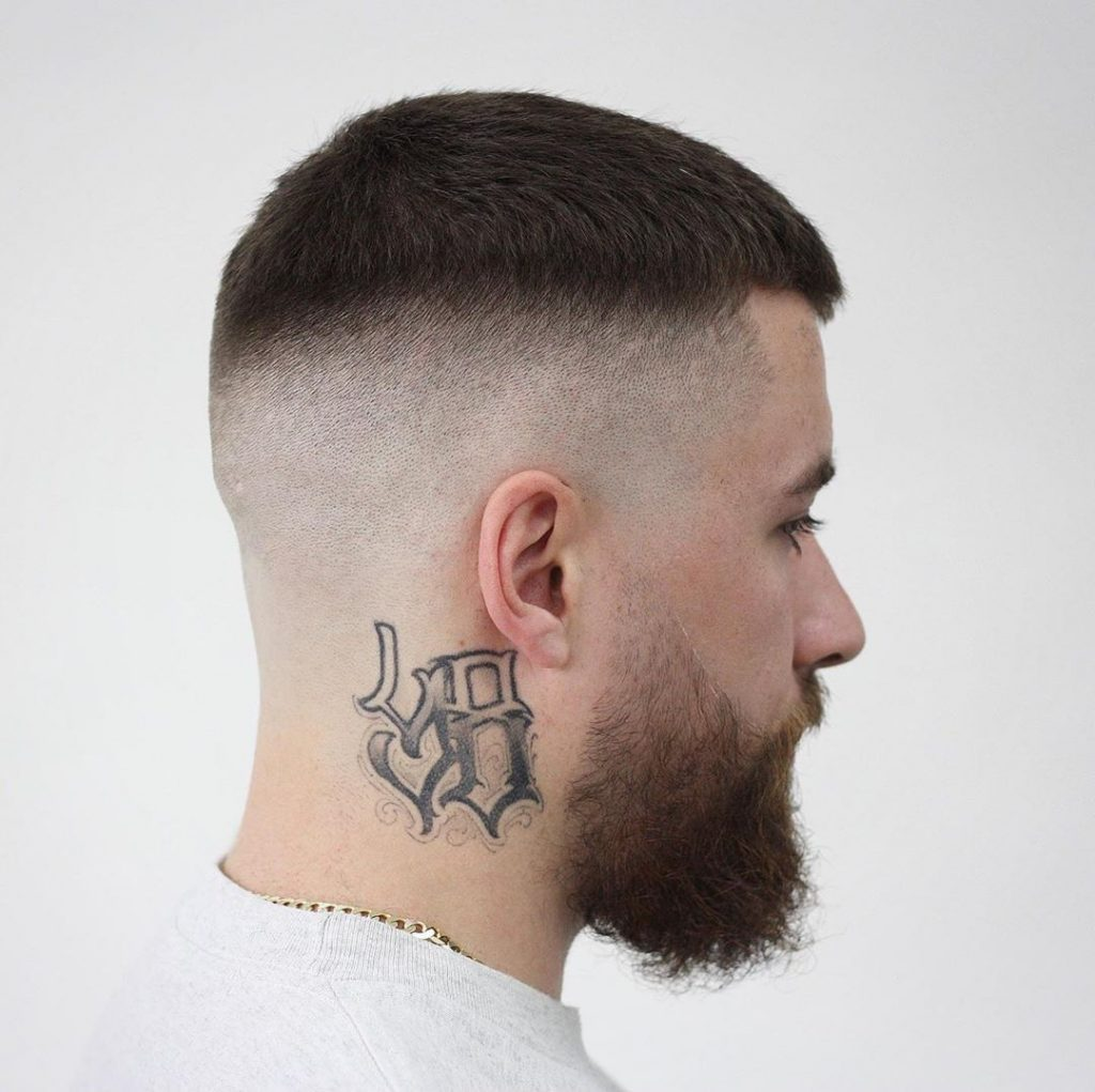Short hair and skin fade haircut