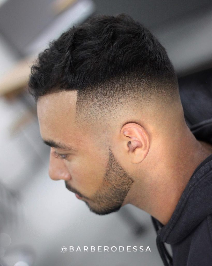 Curly Crop Fade Haircut