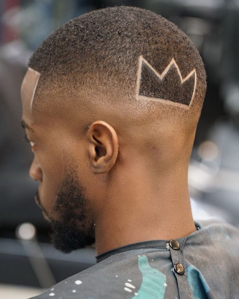 black mid fade haircut