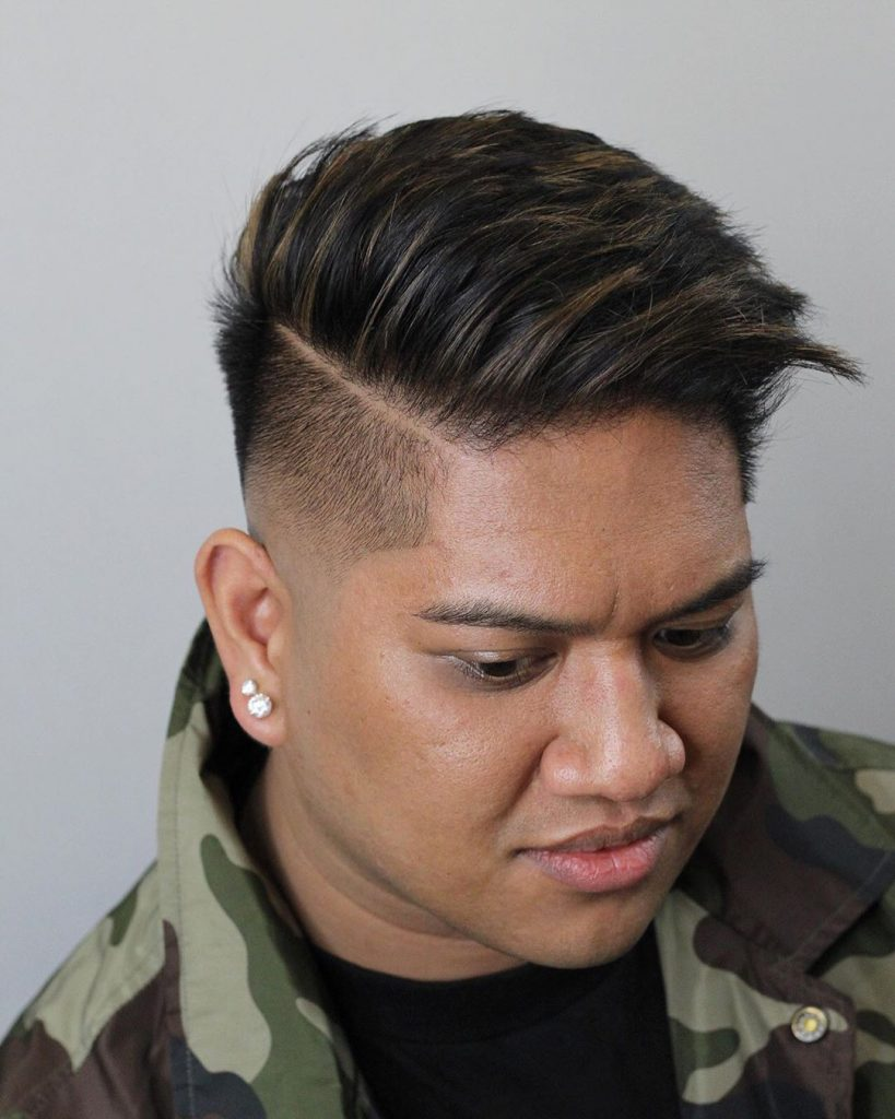 Side Part Hair for Asian Men