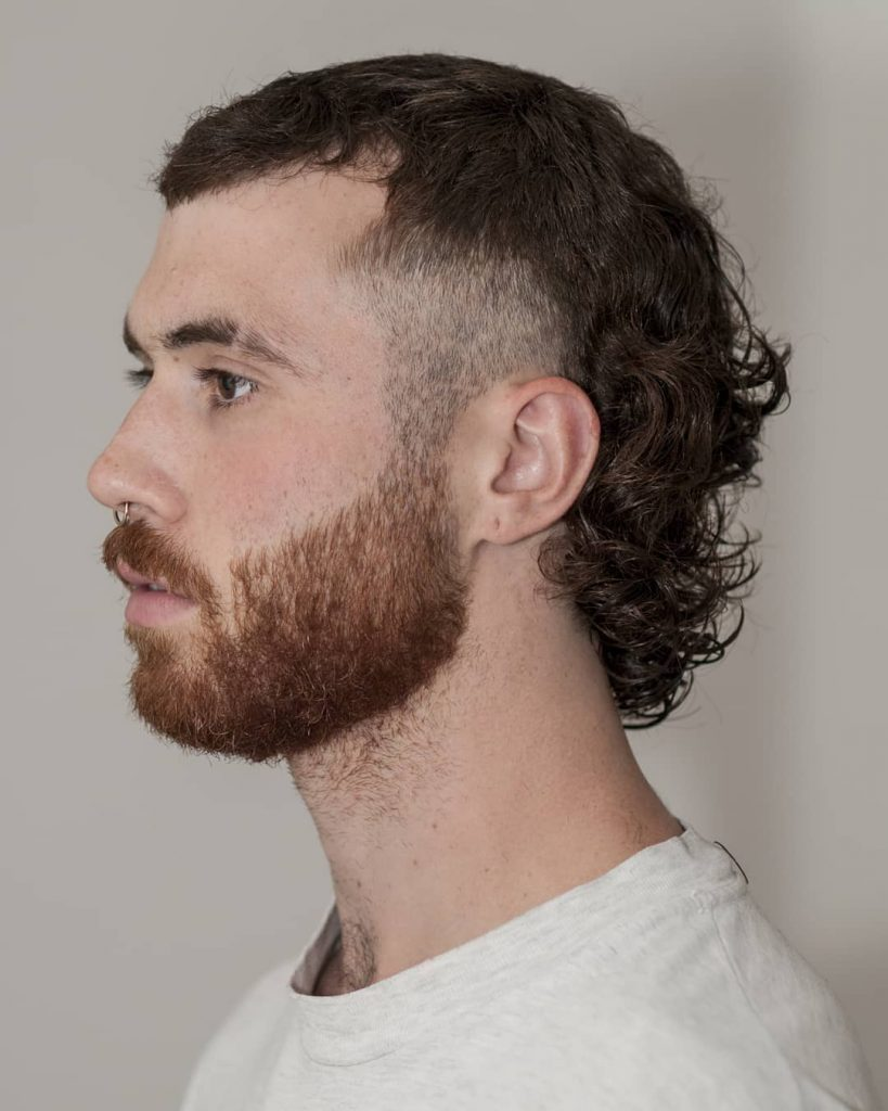 curly hair mullet haircut