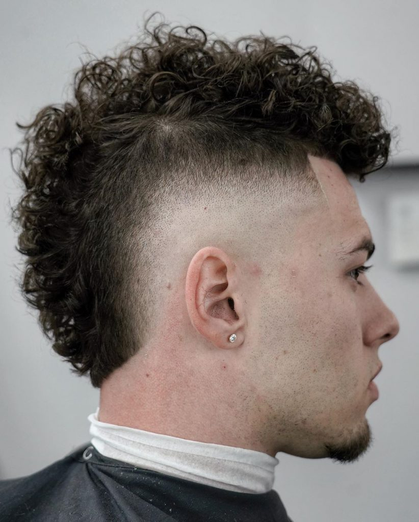 Curly Mohawk Fade