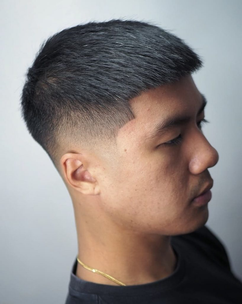 short fade haircut for Asian men