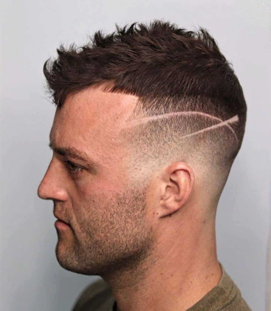 fade haircut with hair design