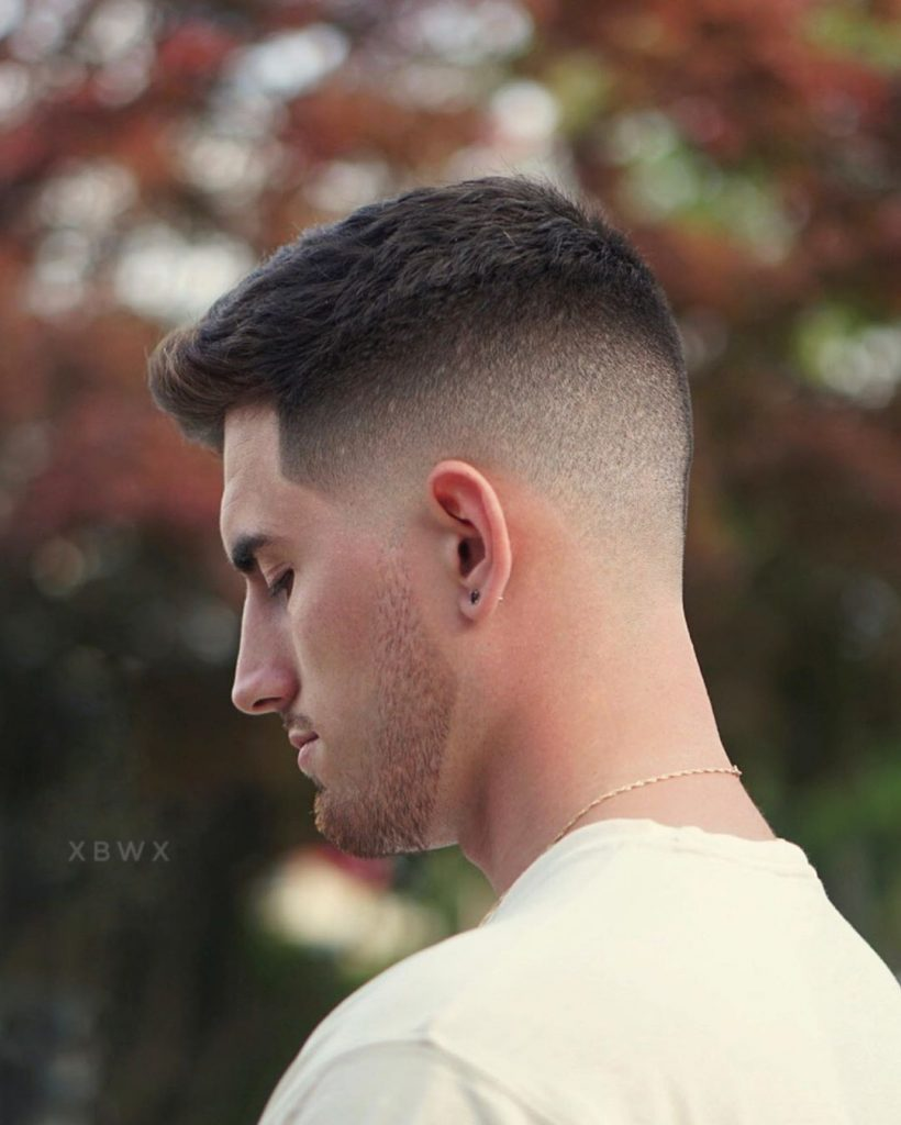 High Fade Haircut for Wavy Hair