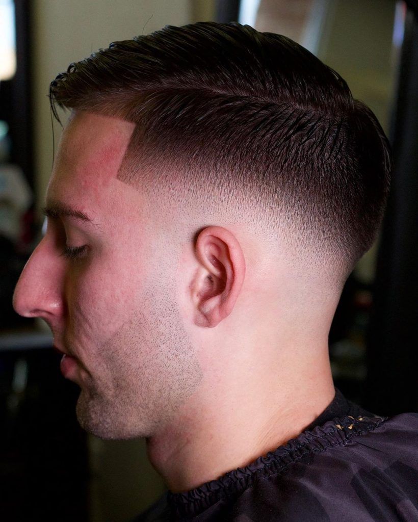 low mid fade haircut