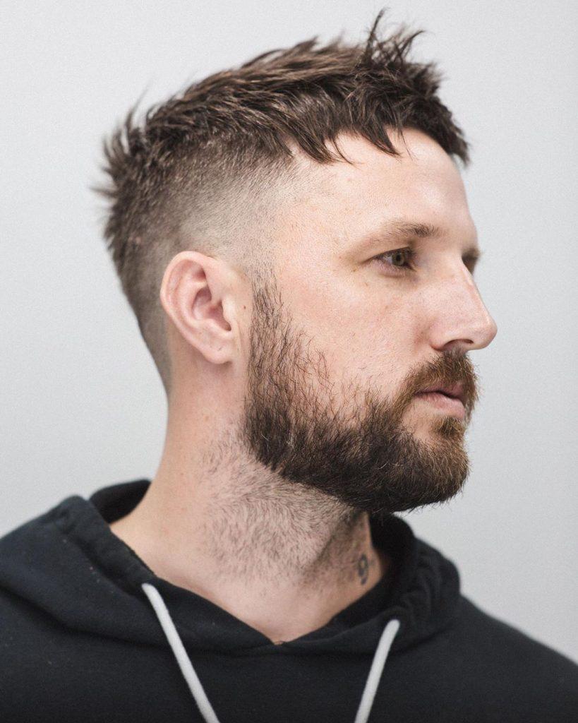 mid fade haircut short hair