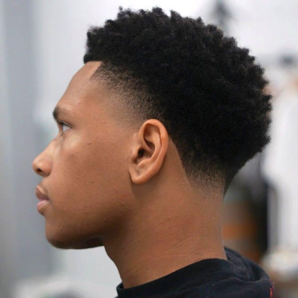 black taper fade haircut