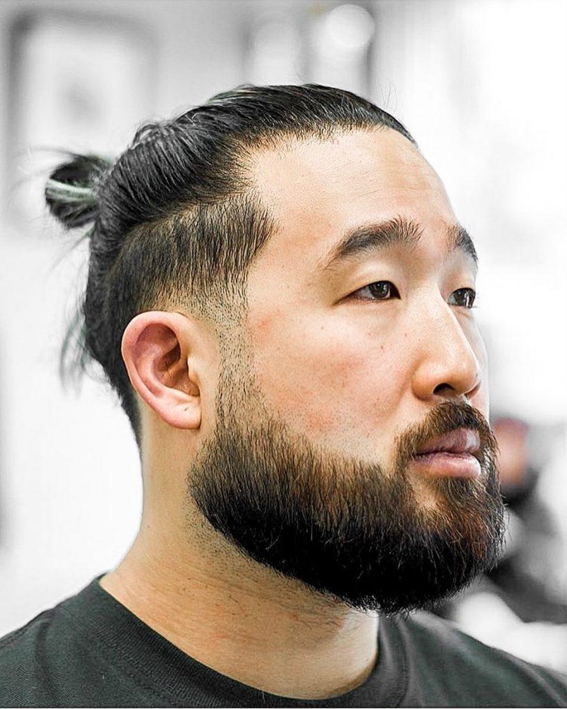 Asian man bun