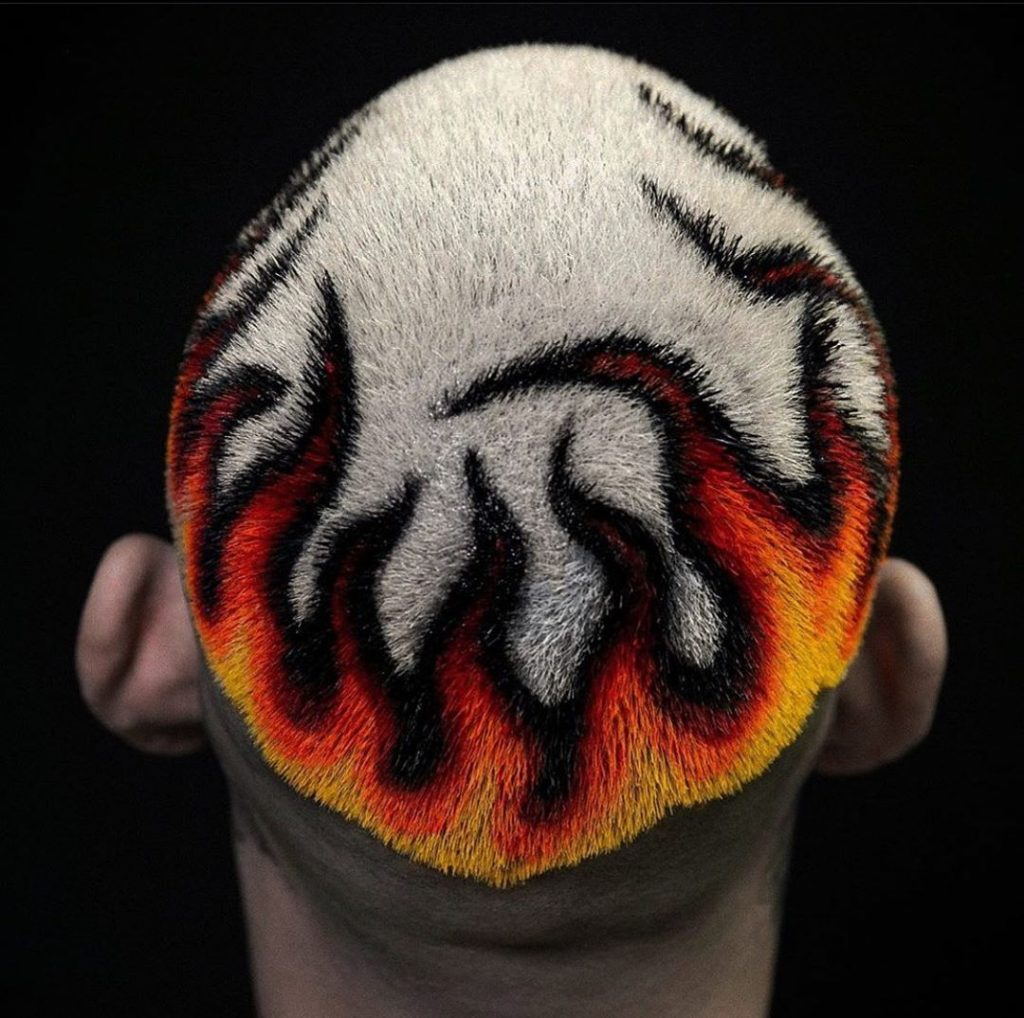Fire hair dye pattern