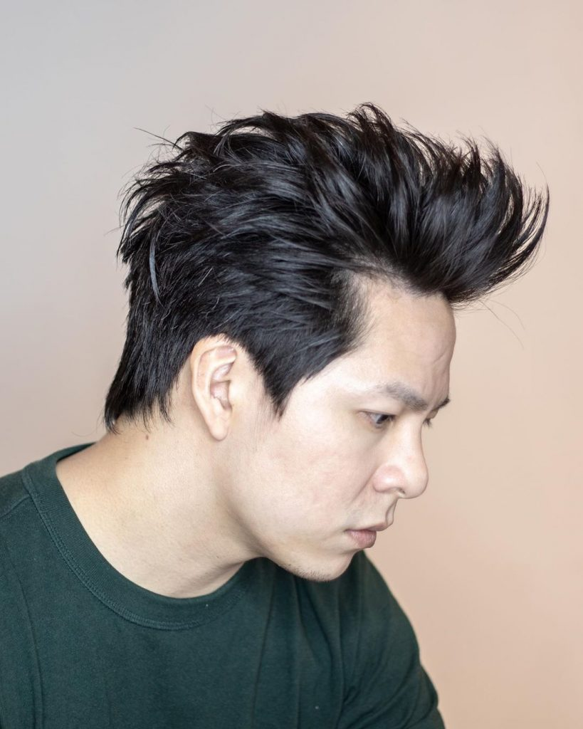 Medium length hairstyles for Asian men