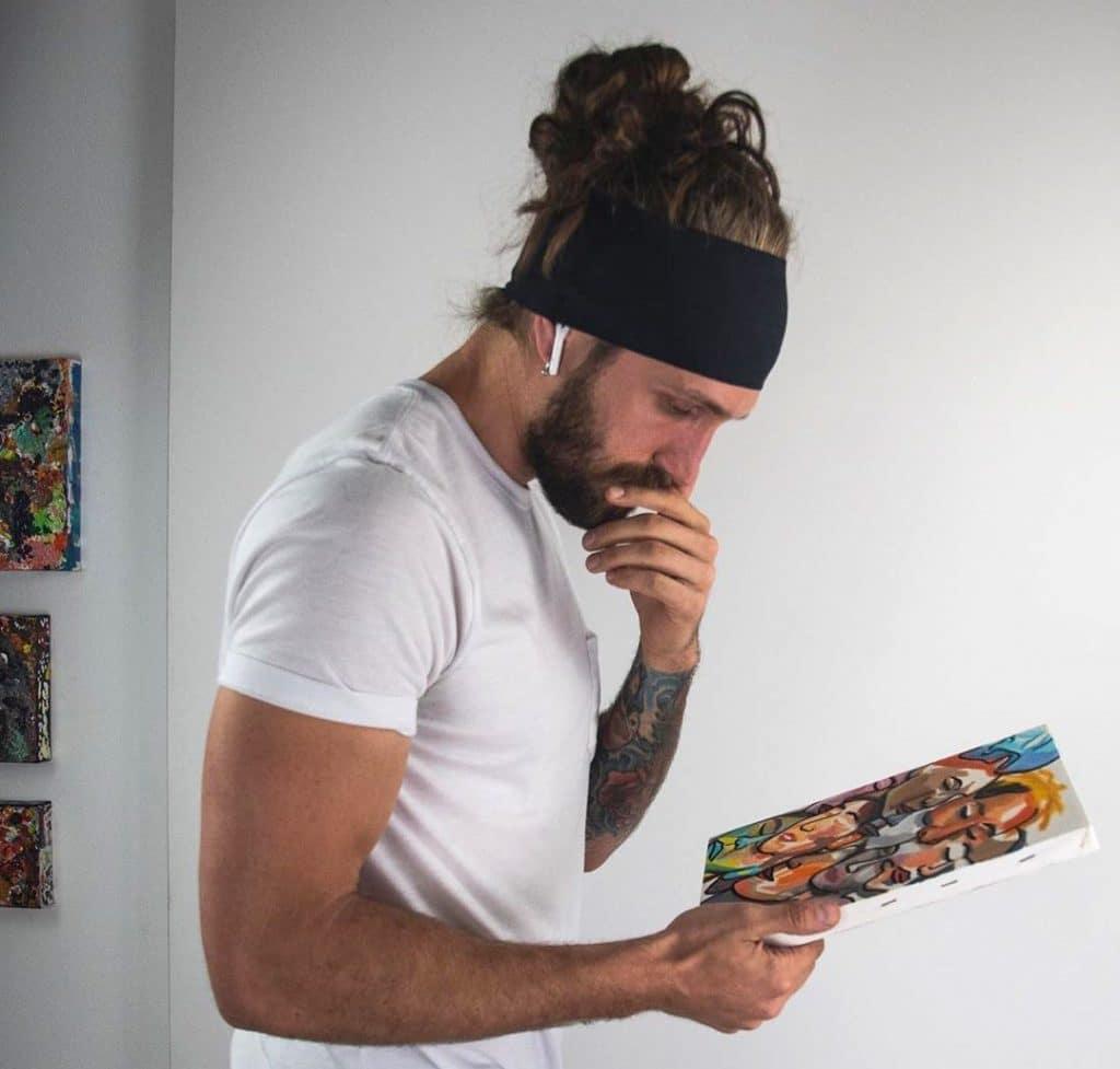 Mens Headband Long Hair