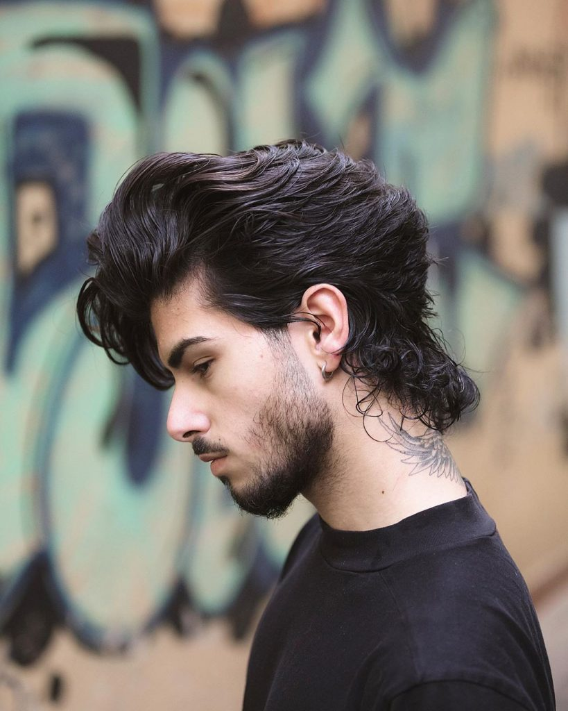 Men's slicked back hairstyles for long hair