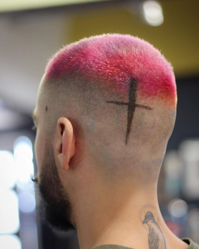 Hot pink hair for men