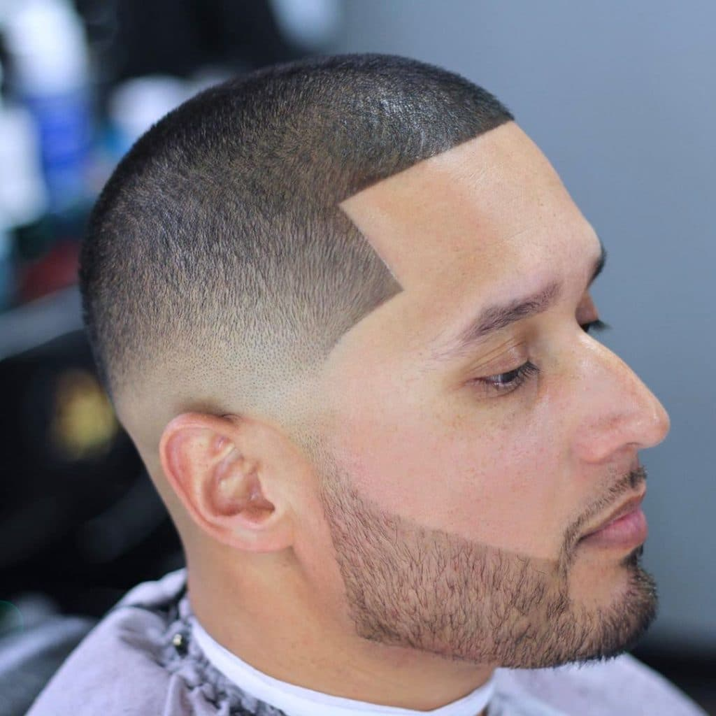 Buzz cut line up + beard shape